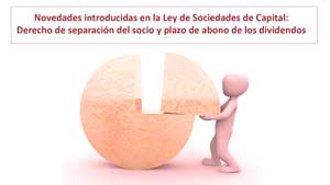 Novedades introducidas en la Ley de Sociedades de Capital: derecho de separación del socio y plazo de abono de los dividendos