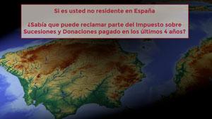 Si es usted no residente en España ¿sabía que puede reclamar parte del Impuesto sobre Sucesiones y Donaciones pagado en los últimos 4 años?