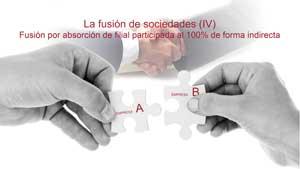 La fusión de sociedades (IV). Fusión por absorción de filial participada al 100% de forma indirecta.
