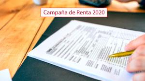 Comienza la Campaña de Renta 2020: Novedades