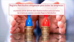 Registro Retributivo obligatorio para todas las empresas