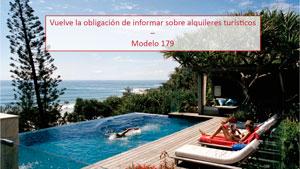 Vuelve la obligación de informar sobre alquileres turísticos – Modelo 179